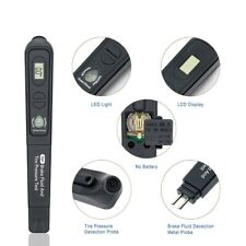 New listing 2In1 Brake Fluid Tester Pen Tire Pressure Tester w/Lcd Display Led Indicator xs*