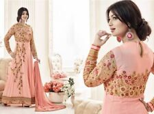 Peach Abaya Style Embroidered Georgette Salwar. Size 42. New. Free Shipping.