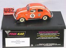 FN PINK-KAR CV025 SLOT CAR VW VOLKSWAGEN BEETLE #9 NASSAU DAN GURNEY MB