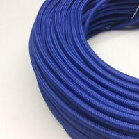 Textilkabel, Stoffkabel, Textilleitung, rund, blau 2x0,75mm² H03VV-F