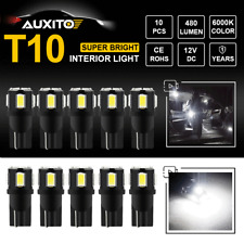 10x 192 168 194 T10 Xenon White Dome Map 5630 SMD W5W LED Lights Bulbs AUXITO