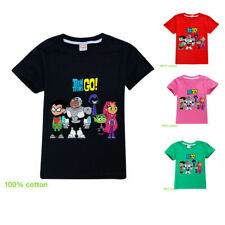 Teen Titans GO! Children Youth Short Sleeve T-Shirt Tops Kids 100% Cotton Tee
