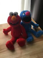 NEW Kohls Cares Sesame Street Grover And Elmo Plush Soft Stuffed Doll Toy 13""