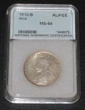 1912-B. One India Rupee. GEM Uncirculated. Beautiful Coin.Tough Date