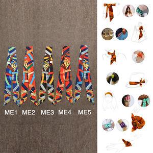 AMIGO Multi-Use Silk Scarf Twilly Wrist Head Band Bag Ribbon Bow Tie Wrap JJME