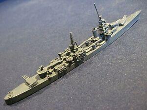 "Vintage Metal Waterline Ship Model US/British WWII Cruiser? 6"" long"
