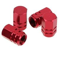 4x Red Aluminum Alloy Car Truck Wheel Tire Tyre Valve Stem Caps Dust Covers -: