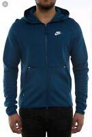 Nike Sportswear Tech Fleece Full Zip Hoodie Blue Force 928483-474 Men's size Med