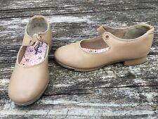 Capezio Girls Tap Dance Tan Shoes Size 12 1/2 M Youth