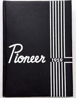 1959 WESTERN SENIOR HIGH SCHOOL Anaheim CA Original YEARBOOK Annual Pioneer