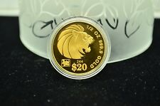 2000 SINGAPORE $20 GOLD SINGAPURA 1/2 OZ LION LUNAR SERIES YEAR OF THE DRAGON