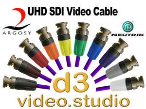 UHD SDI Professional Image 360 Digital Video & Neutrik UHD Rear Twist BNC Cable