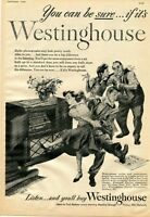 1948 Print Ad of Westinghouse Model 186 Radio Record Player
