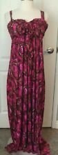 T-Bags Los Angeles NEW XS Pink Print Knit Maxi Dress