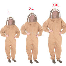 3 Size Professional Cotton Full Body Beekeeping Bee Keeping Suit+Free Veil Hood