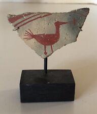 Prehistoric Hohokam Bird with Fish Shard Coa Found in 1930's in Salt River area