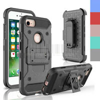 Armor Shockproof Hybrid Rugged Clip Holster Case Cover For iPhone 6 6S 7 Plus