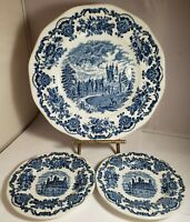 ENOCH WEDGWOOD ROYAL HOMES OF BRITAIN LOT 2 Bread Plates & 1 Dinner Plate