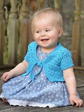Knitting Pattern - Waterfall Bolero (Baby and Child sizes)