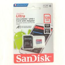 Genuine SanDisk Class 10 Ultra 128GB 100MB/s Micro SD SDHC Memory Card + Adapter