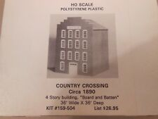HO SCALE BH MODELS #159-504 COUNTRY CROSSING 1890 4 STORY B&B STRUCTURE KIT
