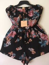 Bond-Eye Australia Floral Flutter Ruffle Love Jumpsuit.Designed in Bondi Size 10