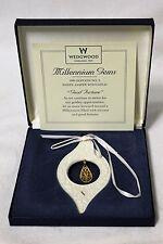 "Wedgwood Millennium Gems 1999 White Jasper with Gold ""Good Fortune"" Ornament"