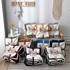 Teddy Fleece Bear Sherpa Blanket Large Throw Over Bed Plush Soft Warm Bedspread