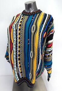 Vintage 1980s Tosani Mens Cotton Sweater Large 46-48 NICE Not Coogi