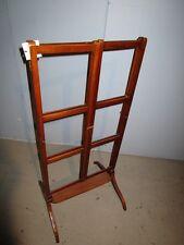 19c Antique English Georgian Mahogany Adjustable Quilt Blanket Rack Stand c1850