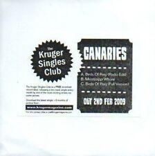(13D) Canaries, Birds of Prey / Massissippi Whore DJ CD