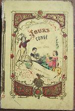 Les jours de congé par Léon Guérin illustré cartonnage romantique