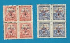 German occupation of Bohemia & Moravia 83-84 cpl.set in sheets of four MNH ** !!