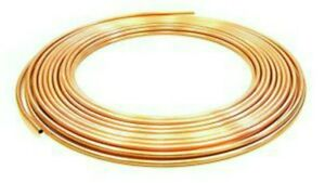 2 METRES OF 10MM MICROBORE COPPER PIPE/TUBE SUITIBLE GAS/WATER/HEATING/DIY.NEW