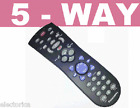 5 IN 1 UNIVERSAL REMOTE CONTROL TV DVD VCR RCA SONY LG SAMSUNG TOSHIBA SANYO GE