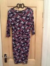 Gorgeous Warehouse Size 12 Navy Blue Floral Printed Dress
