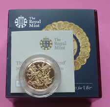2016 UK ORO PROOF £ 1 una sterlina MEDAGLIA-ultimo ROUND sterlina