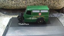 Oxford Die-cast 1/76 Scale Tricycle Van - Green Ambulance 76TV007