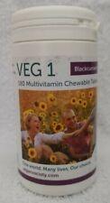 Veg1 Vegan Blackcurrant Multivitamin Chewable Tablets - Pack of 180