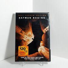 Batman Begins (DVD, 2005, Full Screen) Christian Bale / Christopher Nolan - NEW