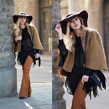 ZARA Ochre Camel Mohair Cape Jacket Coat  S 8 10  BNWT  7866 655
