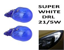 2x W21/5 T20 580 *ERROR FREE DRL Sidelight 7443 Super White HID Xenon Look Bulbs