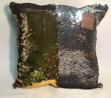 Gold Silver Sequin Pillow Mermaid Magic Glitter Reversible Color Changing 16''#5