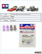 Mini 4wd 8T Metal e Plastic Pinion Gear Set (4pcs.Each) Tamiya 15289 New