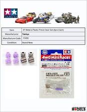 Mini 4wd 8T Metal e Plastic Pinion Gear Set (4pcs.Each) Tamiya 15289 New