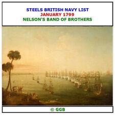 STEELS BRITISH NAVY LIST JANUARY 1799 CD ROM