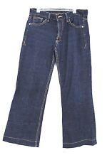 Armani Exchange 30 x 29 Sz 6 Short  NWOT Dark Wash Stretch Women Jeans Wide Leg