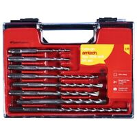 AMTECH 8 Pc SDS MASONRY DRILL BIT SET STORAGE CASE PROFESSIONAL FITS SDS PLUS