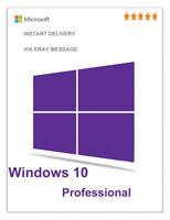 MICROSOFT WINDOWS 10 PRO 32 BIT/ 64 BIT WIN 10  GENUINE LICENSE ORIGINAL