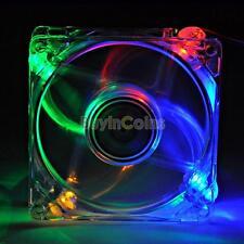 4Pin DC 12V 80mm LED Light PC Computer Cooling Cooler Case Fan SS